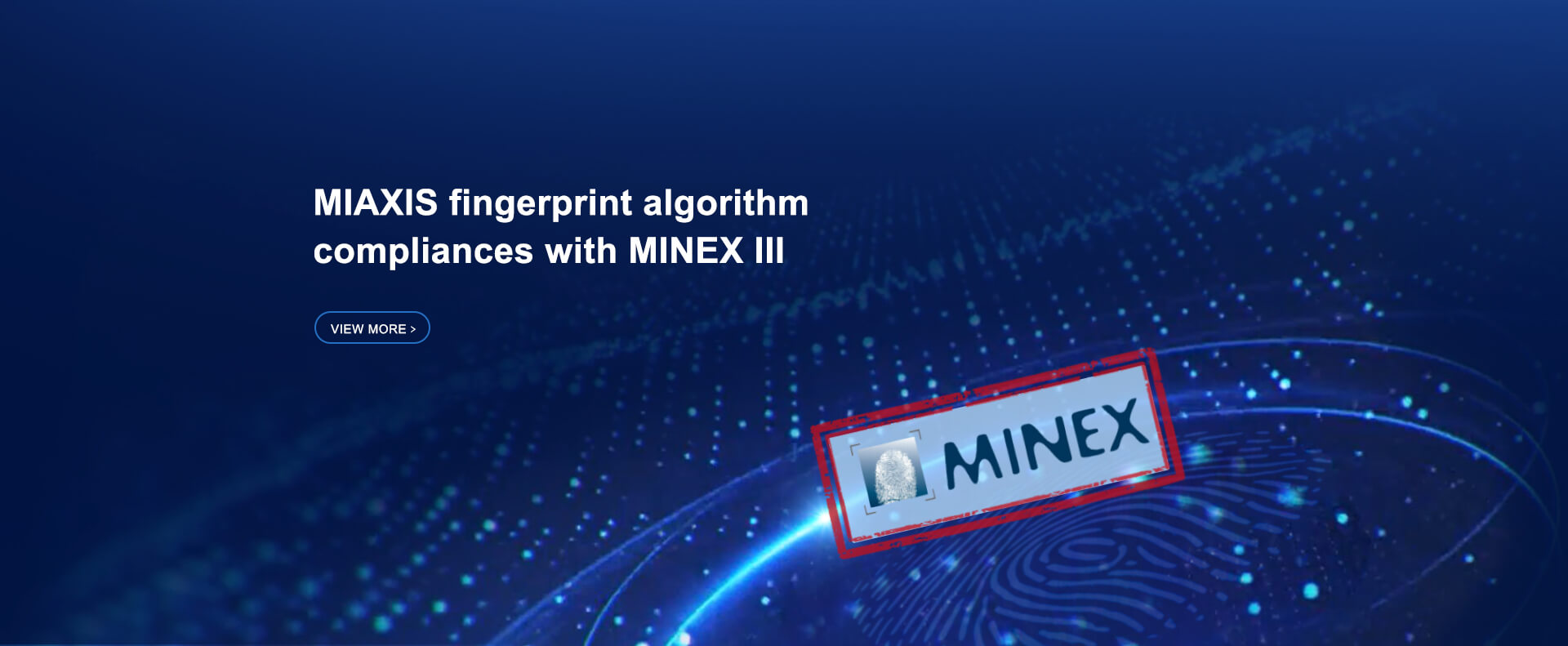 miaxis fingerprint algorithm  compliances with minex